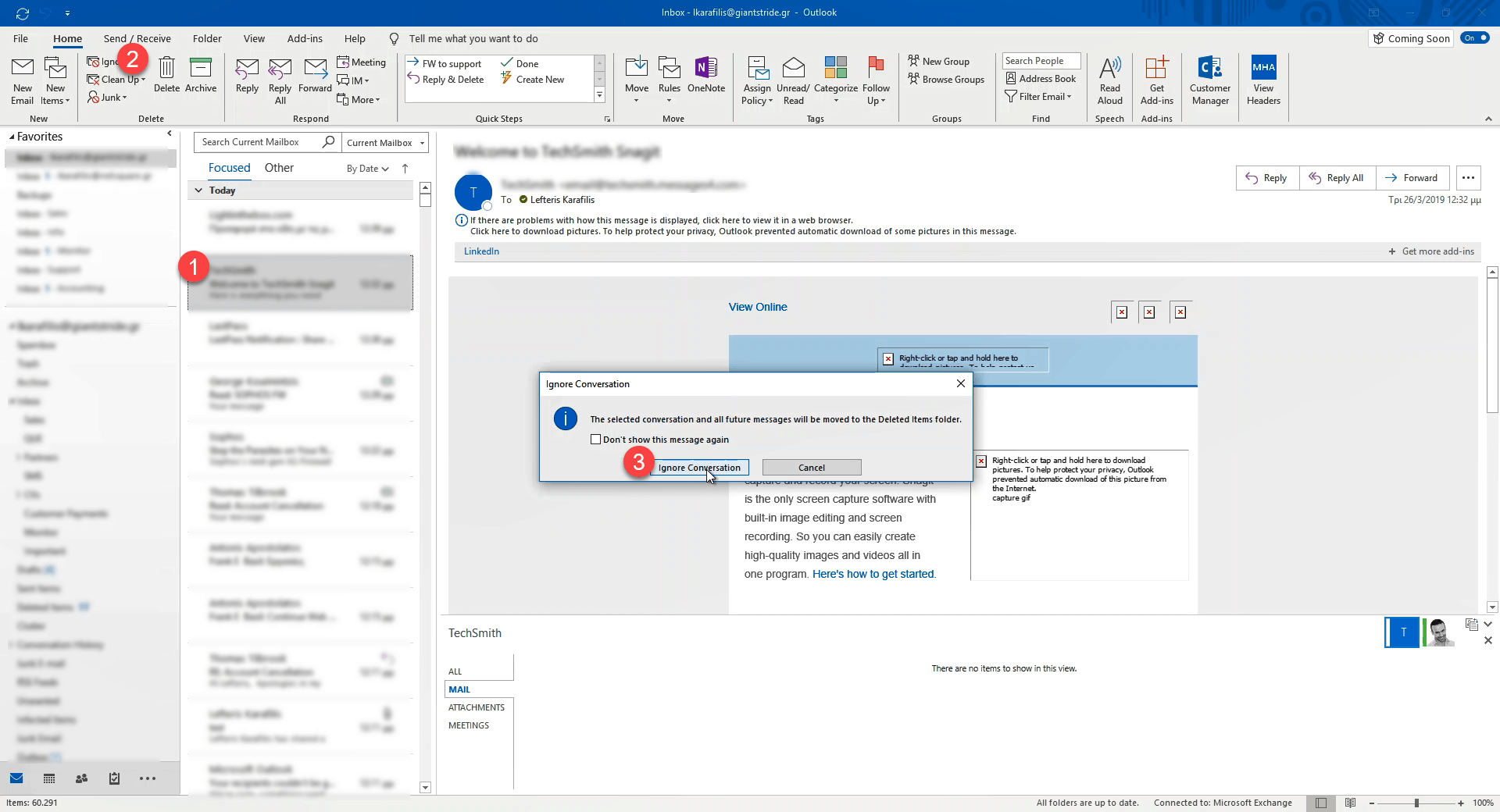 Ignore all those annoying emails in Outlook